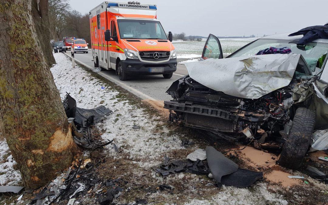 Einsatz: Verkehrsunfall auf der L01